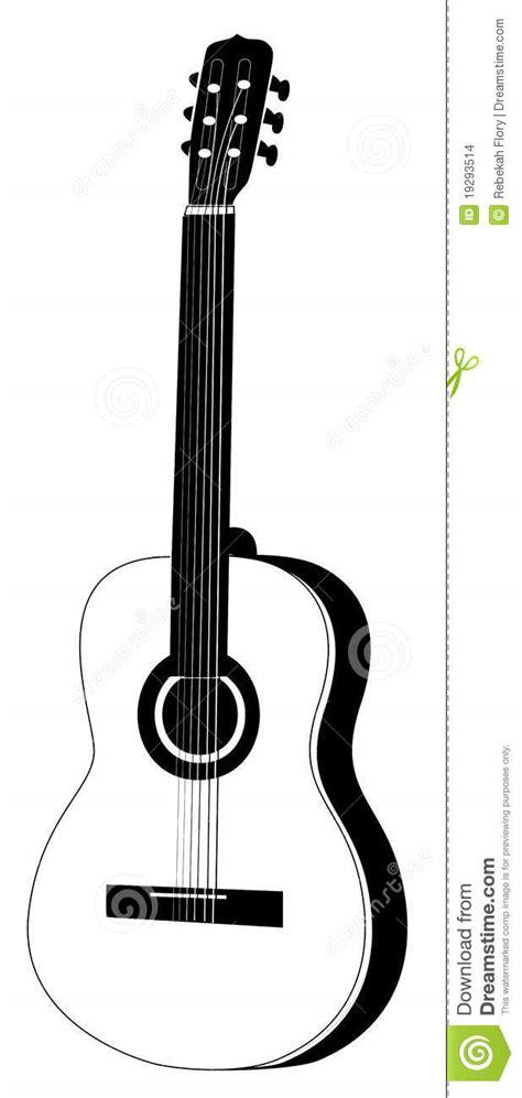 Imagenes De Guitarras Blanco Y Negro | ilustraci 243 n de la guitarra ac 250 stica blanco y negro