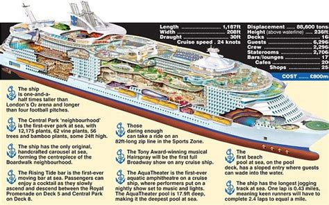 cross section of the world oasis of the seas cross section cruises pinterest