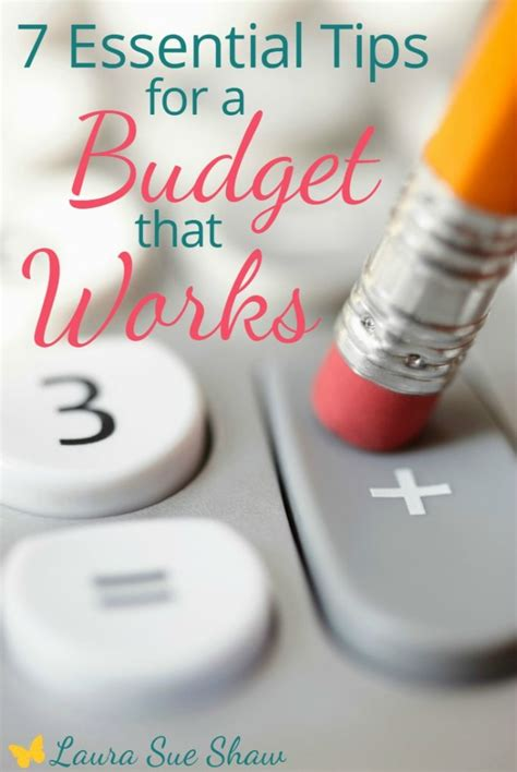 7 Tips For Budgeting Your Finances by 7 Essential Tips For A Budget That Works Sue Shaw