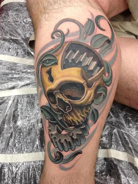 gearhead skull tattoo picture at checkoutmyink com