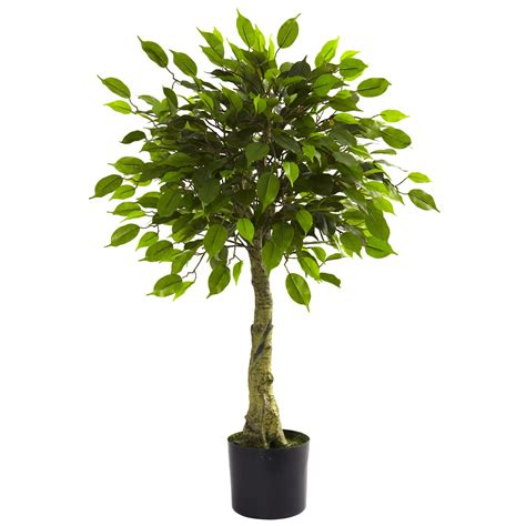 fake tree 3 foot outdoor artificial ficus tree limited uv 5383