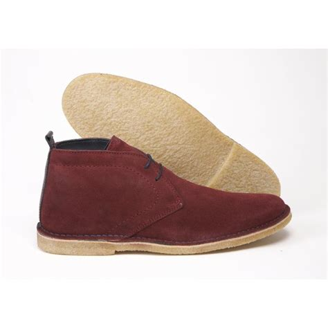 delicious junction crowley burgundy navy suede desert boots