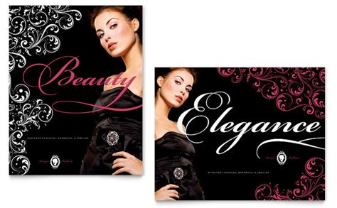 boutique flyer template free formal fashions jewelry boutique poster template design