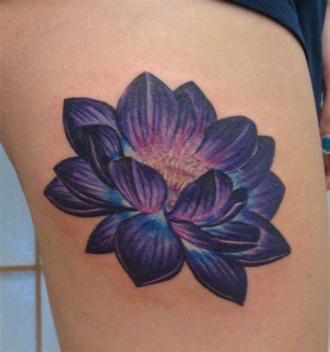 purple flowers tattoos designs purple lotus purple lotus