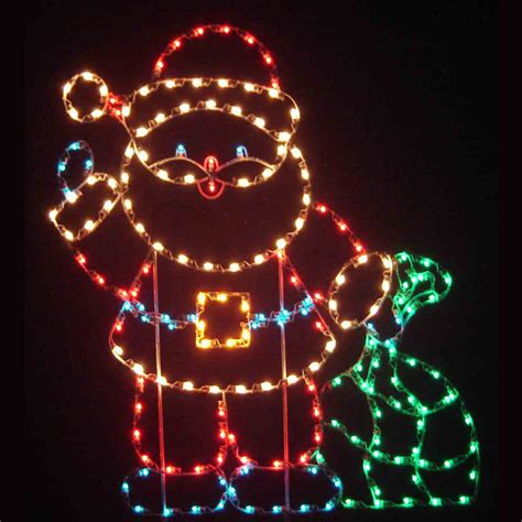 6 holiday dreams c7 led light santa display