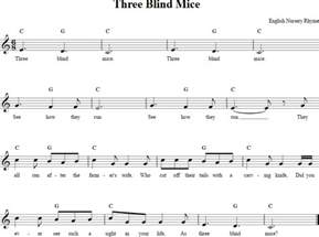 Music For Three Blind Mice Three Blind Mice Recorder Sheet Music