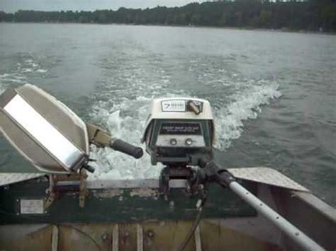 eska boat motor eska built 7hp sears ted williams outboard running on 14