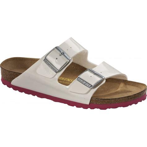 birkenstock type sandals birkenstock arizona patent white pink 652651 classic