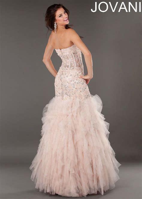 jovani 1267 blush mermaid gown