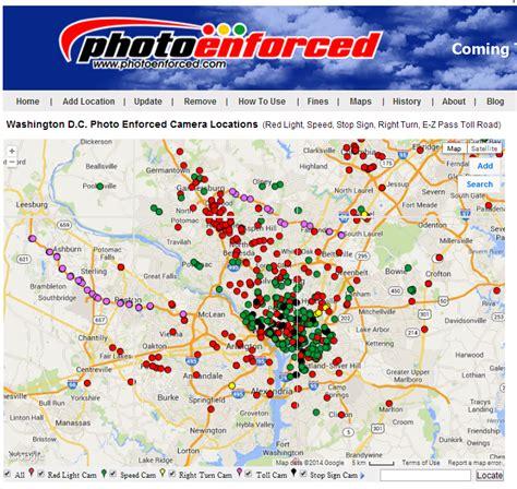 Location Of Speed Cameras Dc Dc Traffic Cameras Revenue