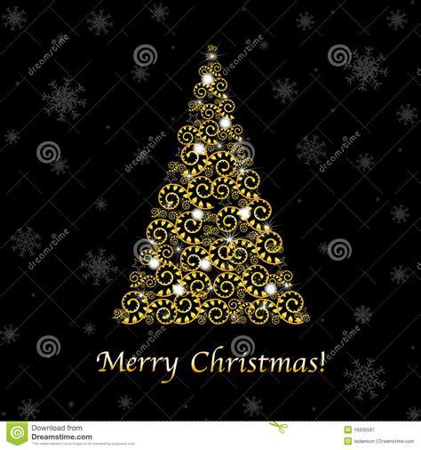 abstract christmas tree vector royalty free stock