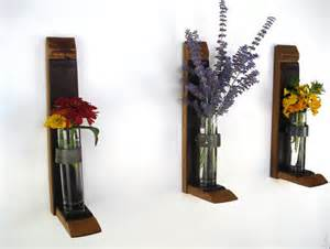 Flower Holders For Vases Wall Hanging Flower Holders By Wine Country Craftsman