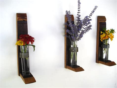wall hanging flower holders by wine country craftsman