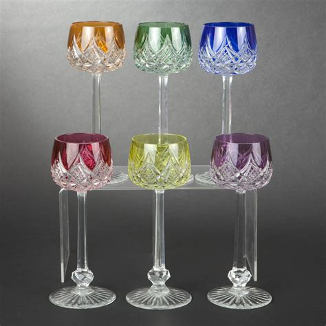 bicchieri baccarat baccarat six verres 224 vin du rhin mod 232 le colbert