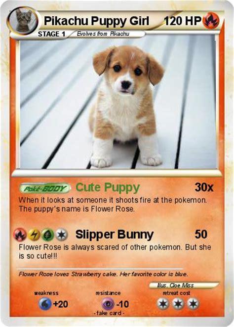 pikachu puppy pok 233 mon pikachu puppy puppy my card