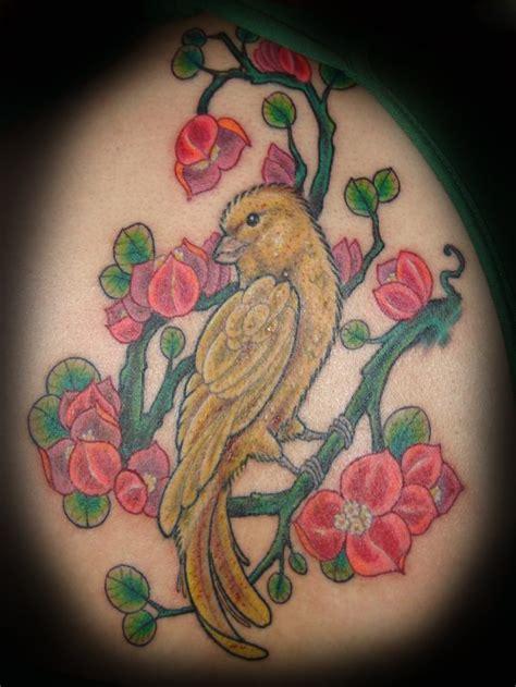 canary tattoo blue canary