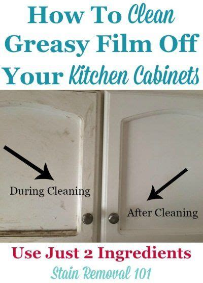 cleanses stains and clean kitchen cabinets on