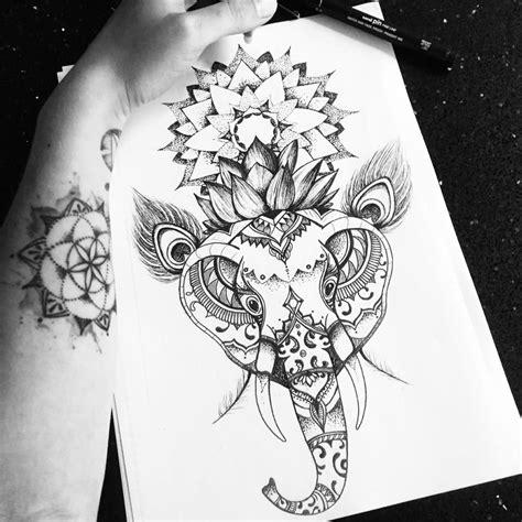 tattoo mandala st e elephant lotus mandala tattoo design on behance