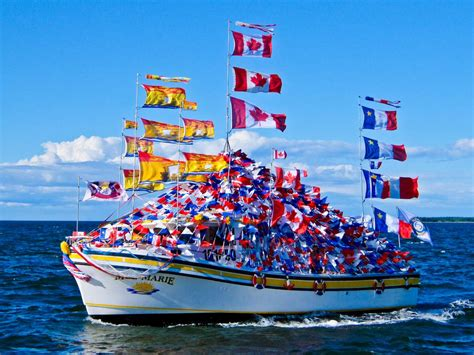 canadian boat flags a tour of the acadian peninsula new brunswick canada