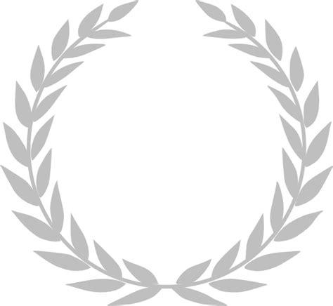 printable laurel leaf crown gray laurel crown clip art at clker com vector clip art