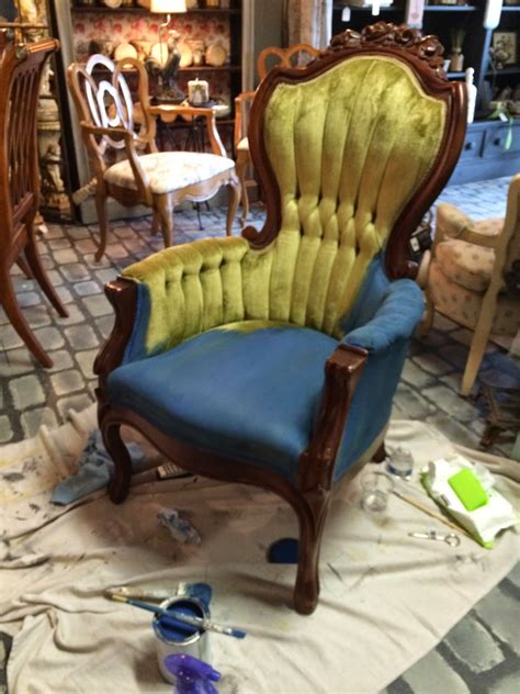 chalk paint velvet chair maison decor how to paint velvet chairs with chalk paint