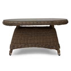 Signature Hardware Alcee Resin Wicker Outdoor Sofa And Outdoor Sofa Table