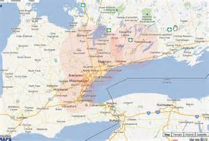 map of toronto canada and usa expert cabling provides cabling service to greater toronto
