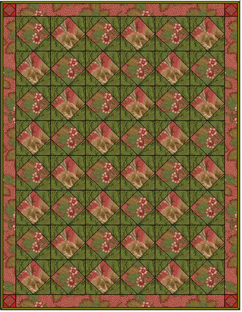 Single Quilt Size Inches by Square In A Square Quilt Block Free Paper Foundation Pattern