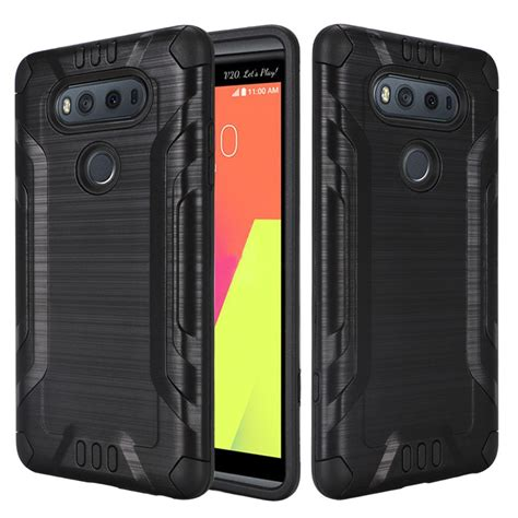 Aluminium Metal Bumper With Brushed Cover Lg V20 for lg v20 brushed metallic metal aluminum cover ebay