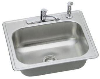 25 inch drop in kitchen sink elkay dd125224df 25 inch drop in kitchen sink with 7 1 16