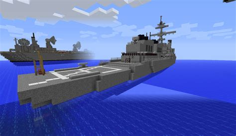 how to make a navy boat in minecraft navy destroyer minecraft project