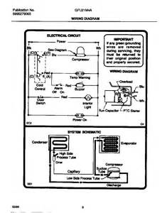 wiring diagram diagram parts list for model gfu21m4aw5 gibson parts freezer parts