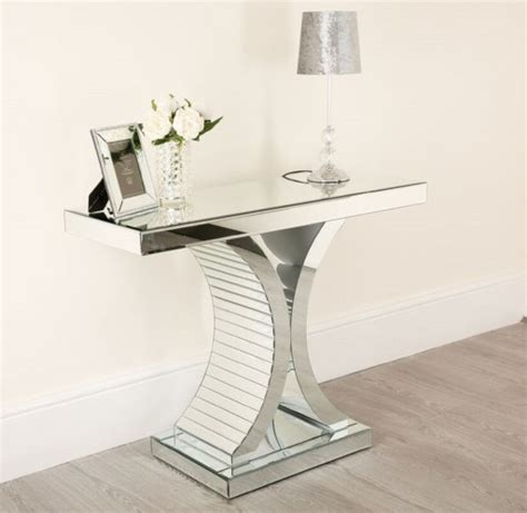 mirrored console table hallway mirror furniture glass