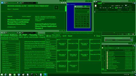 themes for desktop applications milspecgreen windows theme timothy tocci tinker shop
