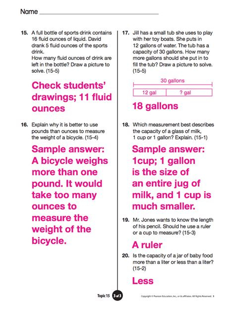 Math Answers