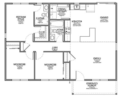 Home Design 79 Marvelous 3 Bedroom House Floor Planss Three Bedroom Floor Plan House Design