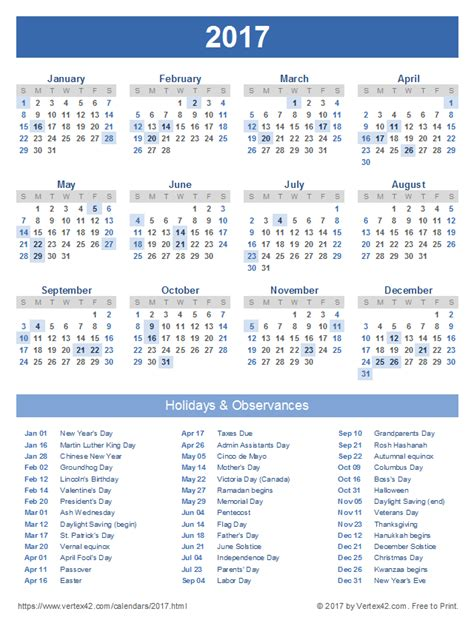 Calendar 2017 Printable Portrait 2017 Calendar Templates And Images