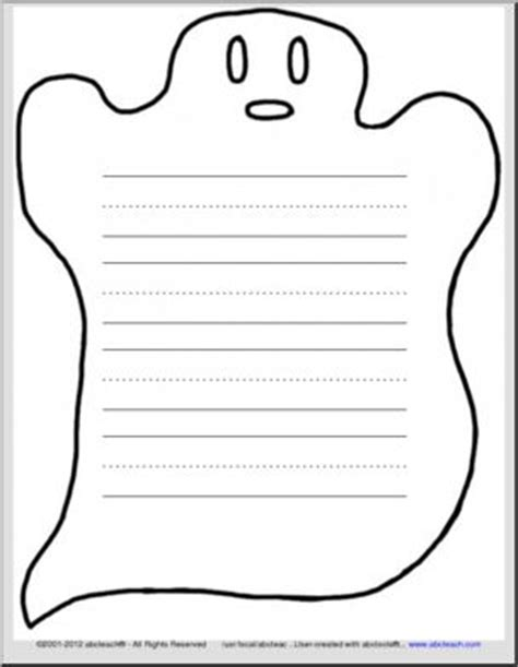printable paper ghost ghost themed writing paper with 3 ruled lines primary i