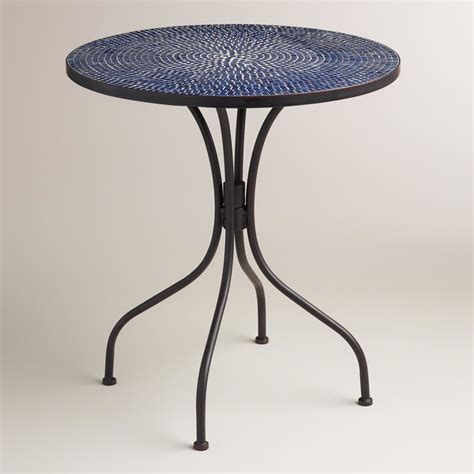 Indoor Bistro Table Modern Peacoat Blue Cadiz Bistro Table Contemporary Indoor Pub And Bistro Sets