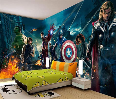 marvel wall mural marvel heros iron 3d wall mural photo wallpaper home dec ebay