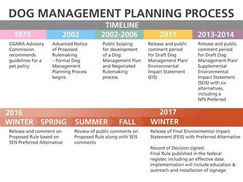 puppy timeline management planning timeline history golden gate national recreation area u s