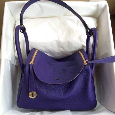 Hermes Lindy 7 112 stitching hermes lindy bag 9k iris purple togo