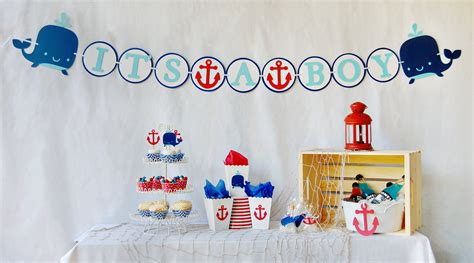 ahoy it s a boy baby shower package by pinwheellane on etsy