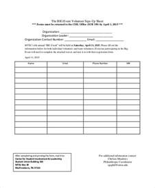 free volunteer sign in sheet template event sign in sheet template 9 free word pdf documents