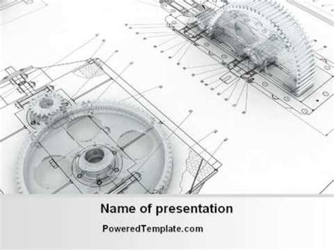 Engineering Drawing Powerpoint Template By Poweredtemplate Com Youtube Engineering Powerpoint Templates