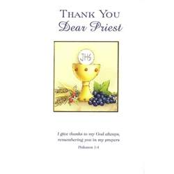 thank you card priest the catholic company