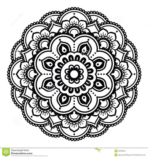 indian henna tattoo pattern or background mehndi design