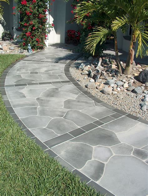 Cement Walkway Ideas Concrete Walkway Ideas Cement Walkways Images Frompo