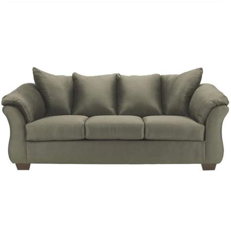 fabric sleeper sofa ashley darcy fabric full size sleeper sofa in sage 7500336