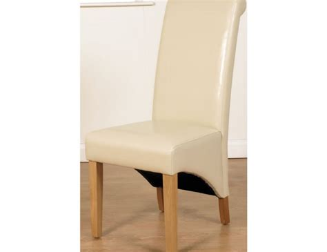Ivory Dining Room Chairs Nico Ivory Faux Leather Dining Chairs